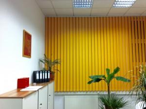 Lamellenvorhang gelb